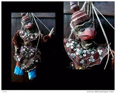 Petite Marionnette Birmane GARUDA / Small Burmese String Puppet Featuring The Garuda Mystic Bird - Art Asiatique