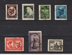 1922 - Couronnement Du Roi Ferdinand Michel No 286/292 Et Yv No 302/308 - Usati