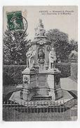 AMIENS EN 1907 - MONUMENT DE FORCEVILLE - BEAU CACHET - CPA VOYAGEE - Amiens