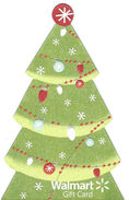 Walmart Gift Card - Unique Shaped Card - Christmas Tree - Gift Cards
