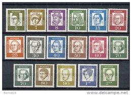Germany 1961-64. Yvert 220-34 ** MNH - Ungebraucht