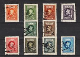 1926 - 60 Anniv. Du Roi Ferdinand Michel No 293/302 Et Yv No 309/318 - Usado
