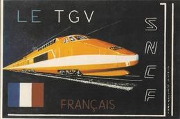 Cpsm Gf -  T G V FRANCAIS  -  Tirage 300 Ex  105 - Eisenbahnen