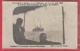 Wépion - Cercle Saint-François  ... En Excursion à Anvers En 1909 - Document Unique ... Carte Photo ( Voir Verso ) - Namen