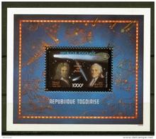 Togo, 1986, Halley's Comet, Newton, Space, MNH, Michel Block 291 - Togo (1960-...)