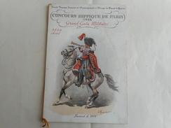 GRAND GALA MILITAIRE CONCOURS HIPPIQUE DE PARIS 1936 - Livres, Revues & Catalogues