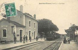 A-17-8511 : JOUE-LES-TOURS. LA GARE DU CHEMIN DE FER AVEC LE TRAIN - Frankreich