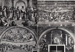 6 POSTCARDS : CITTA' DEL VATICANO - 5x Stanze Di Raffaello, 1x Balisica Di S. Pietro  - (4 Scans) - Vaticaanstad