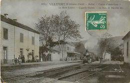 A-17-8518 : VILLEFORT LIGNE DE CHEMIN DE FER TRAIN GARE - Villefort