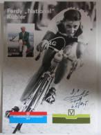 Ferdi KUBLER, Autographe Manuscrit, Dédicace . Cyclisme. 2 Scans. Format 21 X 29.7 Cm - Radsport