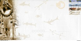 """PAP Avec Timbre """"3 Vues De Polynésie"""" Et Illust. """"Polynésienne En Habit De Fête"""" + Carte De Correspondance Assortie - Prêt-à-poster"""