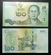 Thailand Banknote 20 Baht Series 16 P#123 SIGN#84 UNC - Thailand