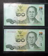 Thailand Banknote 20 Baht Series 16 P#123 SIGN#84 Replacement 0S-1Sพ UNC - Thailand