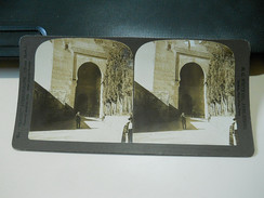 Steroscope Photograph * Gate Of Justice, Main Entrance To The Alhambra * Granada * Spain - Visores Estereoscópicos