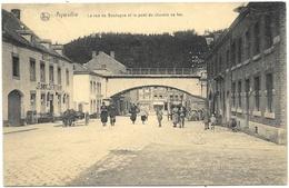 Aywaille NA3: La Rue De Bastogne Et Le Pont Du Chemin De Fer 1920 - Aywaille