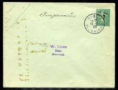 France - Entier Postal Type Semeuse Surchargé Taxe Réduite De Nice Pour La Suisse En 1906 - Ref JJ 127 - Postal Stamped Stationery