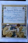 Télégramme Belgique Izegem 1939 TELEGRAM Herman Richir Peintre Mythologie - Stamped Stationery