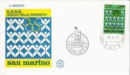Fdc Filagrano: GIOCHI GIOVENTU' (1973) No Viaggiata - FDC