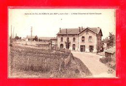 43-CPA SAINT PAL DE MONS - SAINT PAL SAINT ROMAIN - LA GARE ET L'HOTEL CHAUMEL ET USINE GOUYET - (N°547) - Sonstige Gemeinden