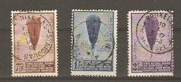 Belgique - 1932 - Ballon Picard - Série Complète ° - Cob 353/55 - Belgique