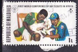 Maldive, 1973 - 1l  Scouts Treating Injured Lamb - Nr.427 Usato° - Maldive (1965-...)