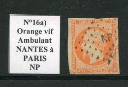 FRANCE- Y&T N°16a)- Orange Vif- Ambulant NP - Marcophilie (Timbres Détachés)