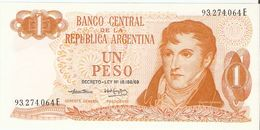 Billet - ARGENTINE - 1 Peso - Série E - Ley 18.188/69 - Argentine