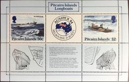 Pitcairn Islands 1984 Ausipex Long Boats Minisheet MNH - Stamps