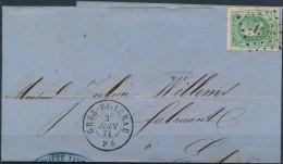 N° 30 Sur Belle Lettre De Grez-Doiceau, Obl 'LP156' Du 3 Juin 71 - 1869-1883 Leopold II