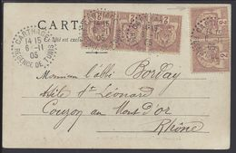 """TUNISIE - 1905 - Affr. à 10 Cts Sur CPA """"Le Caire - Vue Générale De Bédréchen"""" De Carthage Pour Couzon Au Mont D'or - - Tunisie (1888-1955)"""