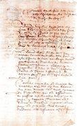 Nicolas Seigneur DOIGNY.deux Pages Manuscrites.1662. - Documents Historiques