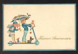 Fantaisie- Illustr. Kerckhoff - Enfants-Trotinnette-Poupée-Parapluie - Illustrateurs & Photographes