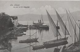 ST.GINGOLPH → Le Port / Der Hafen Mit Dampfschiff Anno 1910 - VS Wallis