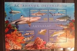 Kazakhstan, 2016, Oceanarium In Astana, Sharks And Coral (MNH) - Peces
