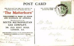 THE MATTERHORN SULPHATE OF AMMONIA LONDON   JAPAN BRITISH WXHIBITION 1910 - Advertising