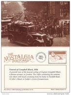 Postcard Funeral Cortege Captain Campbell Black London 1936 Airman Nostalgia Repro - Funeral