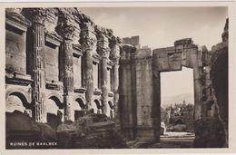 Cpa,liban,nord Plaine Békaa,ruines Temple De Baalbek,époque Gréco Romaine,sémitique,temple Bacchus,jupiter,et Vénus,rare - Libano