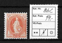 STEHENDE HELVETIA Gezähnt → SBK-86C* - Unused Stamps