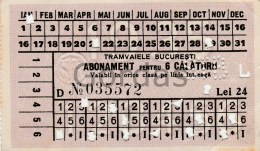 Romania - Bucuresti - Tram Ticket - Tramways
