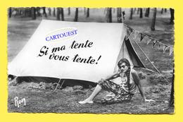 CPSM FEMME EN VACANCES CAMPING SI MA TENTE VOUS TENTE Circa 1950 - Cartes Postales