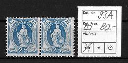 STEHENDE HELVETIA Gezähnt → SBK-93A** - Unused Stamps