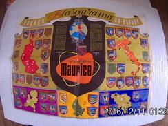 Blasonrama En Plastique Doublé Cafés Maurice Objet Publicitaire Manque 8 Blasons Un Bourbonnais En + - Autres