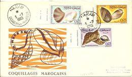 Maroc, Marruecos, Morocco, FDC 1965 COQUILLAGES MAROCAINS 1965 - Coneshells