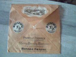 Enveloppe  Vide Publicitaire Fournier Demars A St Amand  Distilerie ** Pubs Differents Alcools - Pubblicitari
