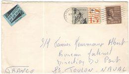 STATI UNITI - UNITED STATES - USA - US - 1967 - 15c Air Mail + 7c Jackson - Viaggiata Da San Francisco Per Toulon Naval, - Etats-Unis