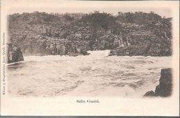 SALTO GUAIRA PARAGUAY CPA DOS NON DIVISE TRES BON ETAT CIRCA 1910 RARISIME EDITEUR JUAN QUELL - Paraguay