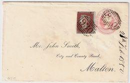 GB, 1850, 1 P. On Entire  ,  #8454 - 1840-1901 (Victoria)