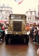 PHOTO MILITARIA (1980's) CAMION US Truck - Réunion Véhicules Militaires - Meeting Military Vehicule  (17.7 X 12.6 Cm) - War, Military