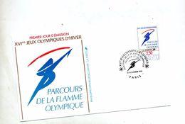 Lettre Fdc 1991 Paris Flamme Olympique - 1990-1999
