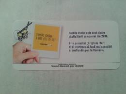 ROMANIA-CIGARETTES CARD,LUCKY CARD,NOT GOOD SHAPE-0.90 X 0.42 CM - Tabac (objets Liés)